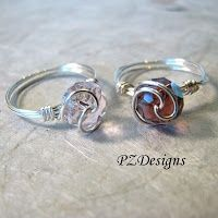 diy wire jewelry tutorials | PZ Designs - Handmade Jewelry: DIY: Simple Wire-Wrapped ... | Jewelry