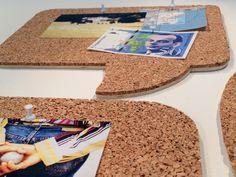 DIY - Pinnwand aus Kork in Form einer Sprechblase