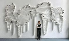 Wall sculpture made from TP rolls - StoreMyPic https://www.facebook.com/storemypic