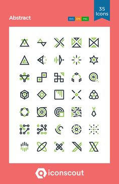 Abstract Icon Pack - 35 Line Icons Png Icons, Dfs, Line Icon, Icon Pack, Icon Font, Design Development, Fonts, Abstract, Designer Fonts