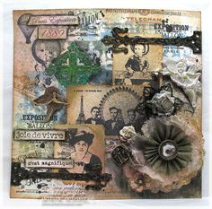 The Funkie Junkie:   Paris Collage Card