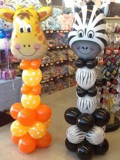 New Baby Shower Decoracion Safari Animales Ideas Safari Theme Birthday, Jungle Theme Parties, Wild One Birthday Party, Safari Birthday Party, Animal Birthday, Boy Birthday Parties, Jungle Theme Cakes, Party Animals, Balloon Animals