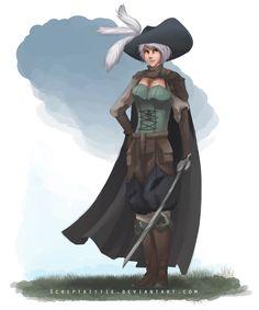 League of Legends: Riven Musketeer by scriptKittie