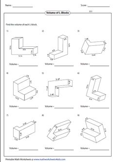 by the end of the activity students should be able to calculate the volume of irregular shapes based on prior knowledge - Volume Of Composite Figures Worksheet