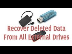 How to Recover Hard drive and Flash Drive Data