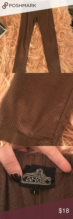 Angie brown suede leggings Size large. Great condition Angie Pants Leggings