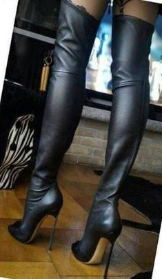 Women's Ankle Boots Thigh High Boots Heels, Stiletto Boots, Black High Heels, Heeled Boots, Shoes Heels, Sexy Stiefel, Talons Sexy, High Leather Boots, Sexy Boots