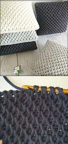 Most current Free of Charge tunisian Crochet pillow Ideas Stricken Crochet Home, Diy Crochet, Crochet Crafts, Crochet Baby, Crochet Ideas, Crochet Mermaid, Beginner Crochet, Knitted Baby, Crochet Cushions
