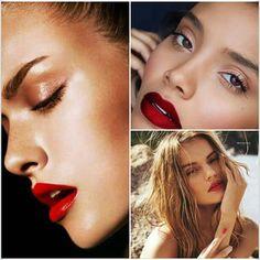 A meleg nyári estéken tökéletes választás egy vörös rúzs, natúr szemfestéssel párosítva. Ha bőrtónusod hűvösebb, a pinkesebb árnyalatok felé keresgélj,ha pedig aranyba hajló, akkor a melegebb, narancsosabb vörösek lesznek a befutók. #beautytrend #beautystic #redlipstick #redlips #summer #summernight #makeup
