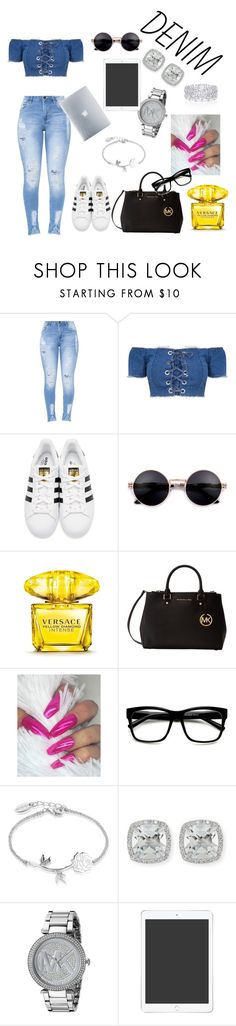 """""""study time"""" by xionnethedesign ❤ liked on Polyvore featuring adidas Originals, Versace, Michael Kors, Graff, Disney, Frederic Sage and Incase"""