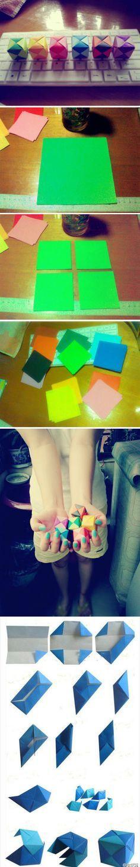 hermosas cajitas de origami paso a paso
