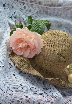 Grandmas Garden, White Doves, Hygge, Pretty In Pink, Burlap, Neutral, Reusable Tote Bags, Pastel, Cottage
