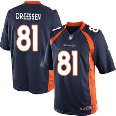 Joel Dreessen Limited Jersey-80%OFF Nike Joel Dreessen Limited Jersey at Broncos Shop. (Limited Nike Men's Joel Dreessen Navy Blue Jersey) Denver Broncos Alternate #81 NFL Easy Returns.