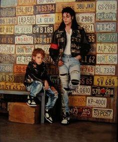 Michael Jackson in 1990 LA Gear Ad photo