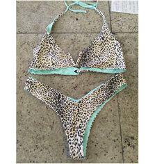 REVERSABLE BRAZILIAN BIKINI SET Brand new condition, never worn, no brand name vs for views. It's really cute and comfy! Victoria's Secret Swim Bikinis