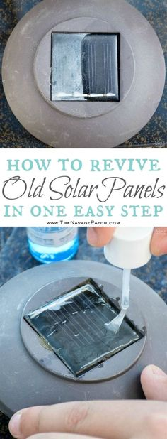 How to clean a solar panel   How to make non-working the solar lights work again   Simple woodworking and garden crafts   Garden and backyard decor   Budget garden and backyard lighting   TheNavagePatch.com #GardeningCrafts
