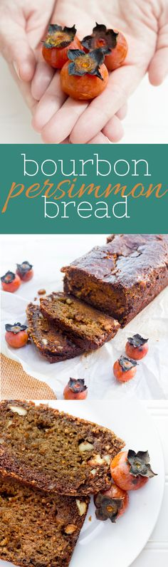 Bourbon Persimmon Bread - dense and delicious persimmon bread that is a perfect fall treat. I need to make this sometime soon for my Dad. He loves persimmons.