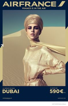 Air France Part 2–Earlier this year, we shared Air France's new campaign which features a fashionable take on air travel. The company has now launched the second part of the posters photographed by Sofia Sanchez and Mauro Mongiello of Talent and Partner. Models like Anais Pouliot appear in the colorful images inspired by global destinations like Dubai, ...
