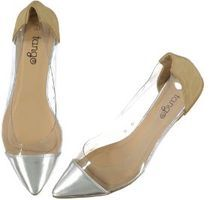 clear pump with solid colour toe and heel Pumps, Heels, Affordable Fashion, Footwear, Toe, Colour, Womens Fashion, Shopping, Heel