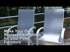 Replacing Fabric in Sling-Back & Director's Chairs | Do-It-Yourself Advice Blog.