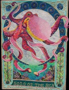 """""""Song of the Sea"""" award winning quilt by Kathy McNeil"""