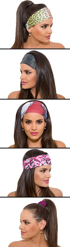 """25% OFF any You Pick 3, 5, or 10 Pack until August 31, 2015 - Promo Code """"PIN25"""". Multi-use head bands. Moisture Wicking. SPF 40. No creasing. Many styles to choose from!"""