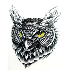 Flying Owltemporary tattoo, Hand painted realistic owl tattoo stickers, women and man waterproof tattoo stickers, arm