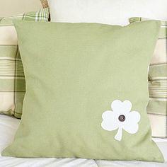 simple shamrock pillow