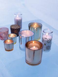 Teelichter machen sich in einer Vielzahl zum Hingucker. Kerzen, Dekoration, Affari
