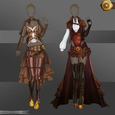 [Closed]Adoptable Outfit (Steampunk 1-2) by Anneysa on DeviantArt