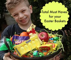 Must Haves for your Easter Basket (I even tossed in some fruit!)
