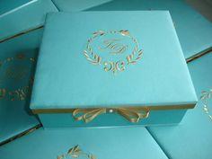 Caixa casamento - Azul Tiffany