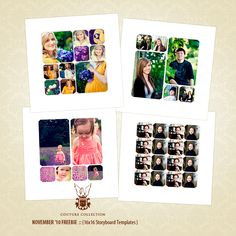 EW Couture Free Templates :: 16x16Storyboards - News & Musings - Photographer Photoshop Templates and Marketing Materials