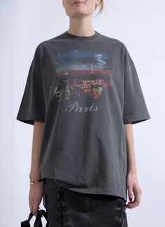 Logo T-shirts are getting cooler and cooler each season. This one by Balenciaga is cut for a loose fit from white cotton-jersey and printed with a coo