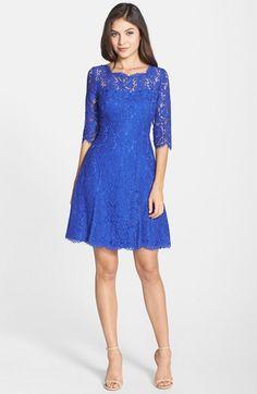Eliza J Lace Tulip Dress (Regular & Petite) | Nordstrom