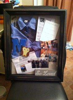 Adoption shadow box. Love the way it turned out!!