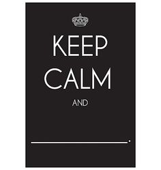 Sometimes you just need to Keep Calm and [fill in the blank]. This fun chalkboard vinyl decal from Wallies lets you write in whatever it is that keeps you going. Completely peel-and-stick, and leaves no residue. 12x18 inches.