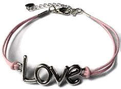 Armband love roze