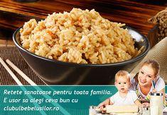 O reteta consistenta de pui cu orez si praz pentru copii mai mari de 1 an potrivita pentru pranz sau cina.