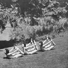 1910, yoga in the park