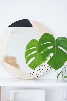 DIY Statement mirrors with geometric frame