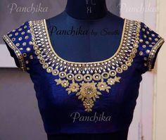 Top 10 Silk Saree Blouse Designs For This Diwali - Candy Crow Pattu Saree Blouse Designs, Blouse Designs Silk, Bridal Blouse Designs, Hand Work Blouse Design, Simple Blouse Designs, Maggam Work Designs, Indie, Bollywood, Diys