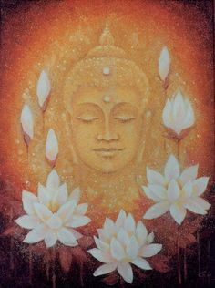 Buddha Quotes and some sayings, just words of sageness from the founder of Buddhism. Lotus Buddha, Art Buddha, Buddha Zen, Buddha Painting, Gautama Buddha, Buddha Buddhism, Buddhist Art, Buddha Peace, Chakra