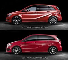 Mercedes-Benz B-Class - Side view design comparison