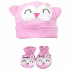 Gerber Baby-Girls Newborn Novelty Cap and Mittens Set