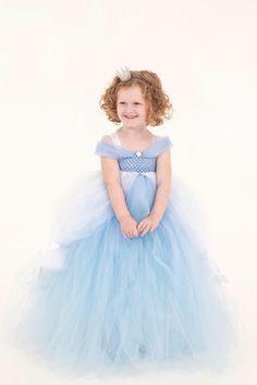 Girls Tutu Dress, Cinderella Inspired Tutu, Princess Tutu, Birthday Party Dress, Cinderella Inspired Dress, Halloween Costume - pinned by pin4etsy.com