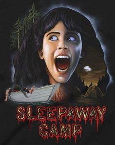 SLEEPAWAY CAMP Horror Movie Posters, Movie Poster Art, Horror Films, Film Posters, Cult Movies, Scary Movies, Best Classic Horror Movies, Sleepaway Camp, Creepy Horror