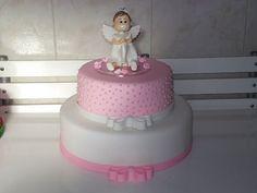 Resultado de imagem para bolo fake de eva batizado menina