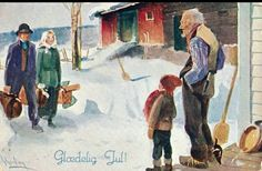 Julekort Gerhard Gjerding utg Mittet brukt 1925