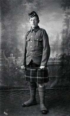 +~+~ Antique Photograph ~+~+  Young man ~ Alec Campbell, First World War